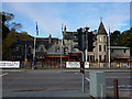 NH8912 : Cairngorm Hotel and a pelican crossing, Grampian Road, Aviemore by Phil Champion