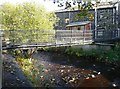 SE0125 : Footbridge over Cragg Brook, Mytholmroyd by Humphrey Bolton