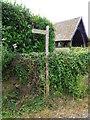 ST5412 : Footpath sign near East Coker by Maigheach-gheal
