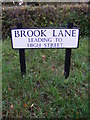 TM3585 : Brook Lane sign by Adrian Cable