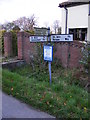 TM3585 : Roadsign on Moles Lane by Adrian Cable