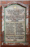 TQ3191 : St Cuthbert, Wolves Lane - War Memorial WWI by John Salmon