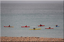 TQ3103 : Canoeists, Brighton, East Sussex by Christine Matthews