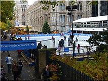 TQ2679 : Skating Rink at Natural History Museum by Peter Barr