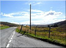 NN7754 : The B846 near Foss, Perthshire by nick macneill