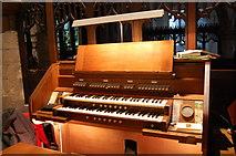 TQ8833 : Organ console, St Mildred's Church, Tenterden by Julian P Guffogg