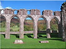 SO2827 : Nave arches, Llanthony Priory by Gordon Hatton