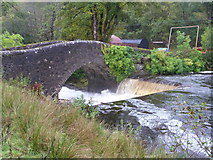 NM7047 : Achranich Bridge, River Rannoch by Peter Bond