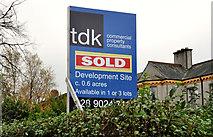 J3774 : Estate agents' sign, Belfast by Albert Bridge