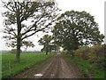 SJ6064 : Farm track & footpath from Lower Farm to Fennywood Farm by Dr Duncan Pepper