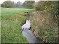 SJ6264 : The Poolstead Brook looking upstream from the bridge by Dr Duncan Pepper