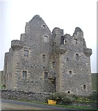 HU4039 : Scalloway Castle - view from the West by Rob Farrow