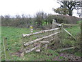 SJ6163 : Stile on the footpath between Darley Hall and Bawk House by Dr Duncan Pepper