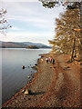 NY2620 : Walking by Derwent Water by Karl and Ali