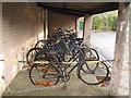 SP8633 : Bletchley Park: old bicycles by Stephen Craven