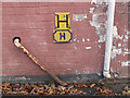 SP8633 : Bletchley Park: old hydrant sign by Stephen Craven