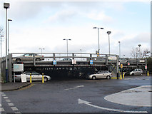 SP8633 : Bletchley station: car park by Stephen Craven