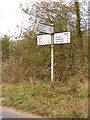 TM1872 : Roadsign on the B1117 by Adrian Cable