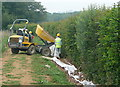 TQ0332 : Pipe laying at Oakhurst Farm (4) by Graham Horn