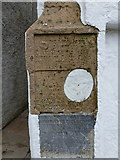 HU4039 : Scalloway: earth tides inscriptions in New Street by Chris Downer