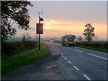SO7729 : A417 November dawn by Jonathan Billinger