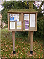 TM1570 : Occold Parish Notice Board by Adrian Cable