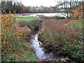SP0381 : Griffins Brook Joining Wood Brook to Form The Bourn by Roy Hughes