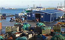 HU4642 : Pelagic trawlers at Holmsgarth Pier, Lerwick by Robert W Watt