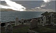 HU4840 : Bressay Sound from the Knabb cemetery by Robert W Watt