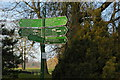 TQ3470 : Crystal Palace Park: footpath sign at Thicket Road entrance by Christopher Hilton