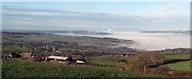 NZ0162 : Temperature inversion in the Tyne Valley by Robert W Watt
