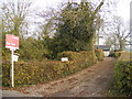 TM2375 : The entrance to Willow & Pear Tree Cottages by Adrian Cable