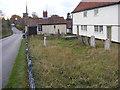 TM3775 : Walpole Congregational Chapel Churchyard & B1117 Halesworth Road by Geographer