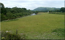 SN7634 : River meadow NW of Llandovery by Jaggery