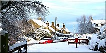 NZ0759 : Wintry weather in Hedley on the Hill by Robert W Watt