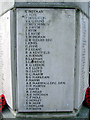 TL1829 : Hitchin War Memorial - World War Two Panel - H to N + Pateman & Smith by John Lucas