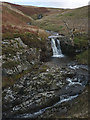 SD6582 : Small waterfall on Aygill Beck by Karl and Ali