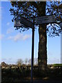 TM2076 : Roadsign on the B1118 Chickering Road by Adrian Cable