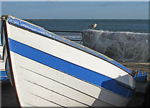 TA1280 : North Sea view from Coble Landing by Pauline E