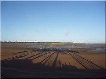NT6378 : Coastal East Lothian : Desert Island Shadows at Hedderwick Sands by Richard West