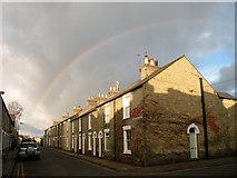 TL4658 : Morning rainbow, Norfolk Street by Keith Edkins