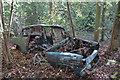 TQ8061 : Abandoned Ford Anglia, Bredhurst Hurst by Chris Whippet