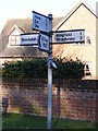 TM2178 : Roadsign on Wingfield Road by Adrian Cable