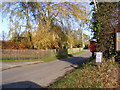 TM2177 : Hoxne Road & Village Hall Postbox by Adrian Cable