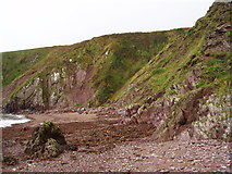 X2580 : Cliffs at Ballymacart Cove - looking west by ethics girl