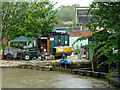 SJ7066 : Boatyard and dry dock at Middlewich, Cheshire by Roger  Kidd