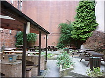 SE1633 : The beer garden at the Shoulder of Mutton by Ian S