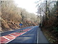 ST2098 : Keep left on the long descent through Cwm Kendon to Crumlin by Jaggery