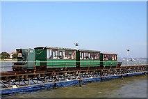SU4208 : The electric train on Hythe Pier by Steve Daniels