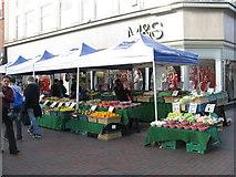 TL0449 : Market Stall on Midland Road by M J Richardson